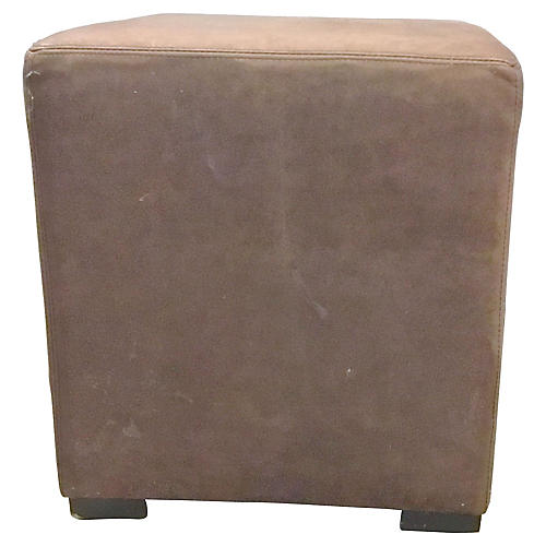 Leather Cube Ottoman