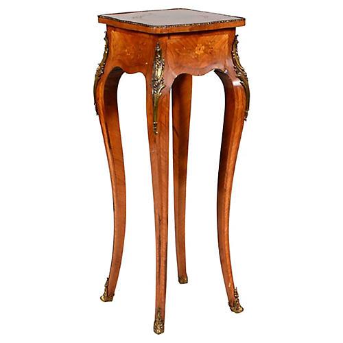 Tulipwood Marquetry Pedestal