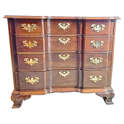 Georgian-Style Goddard Chest of Drawers