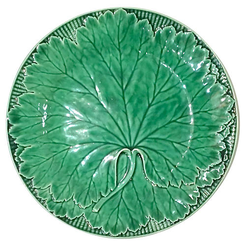 Antique Wedgwood Leaf Majolica Plate