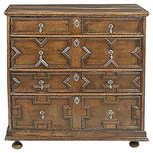 Antique Jacobean-Style Oak Chest