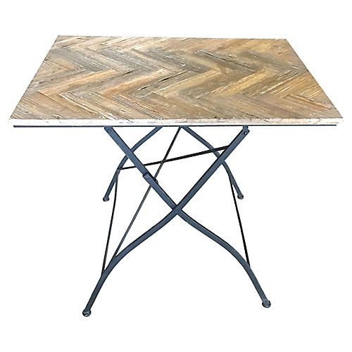 Herringbone Folding Table