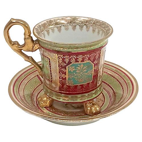 Royal Vienna Porcelain Cup & Saucer