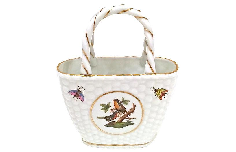 Herend Porcelain Rothschild Basket