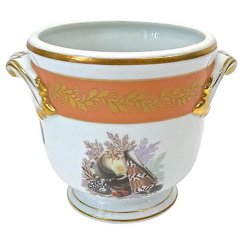 Mottahedeh Porcelain Shell Cachepot