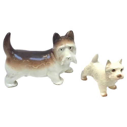 Miniature Porcelain Terriers, S/2