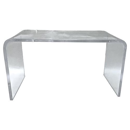 Modernist Waterfall Lucite Table