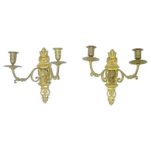 Louis XVI-Style Candle Sconces, Pair