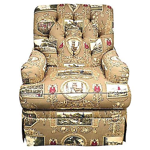 Equestrian Motif Club Chair