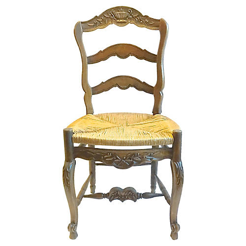 Antique Country French Ladder Back Chair