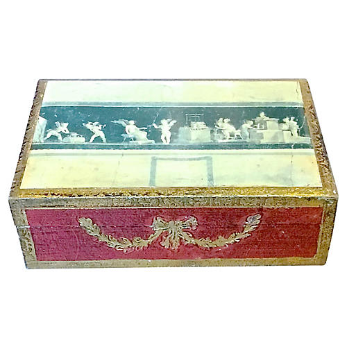 Cherub Theme Florentine Style Box
