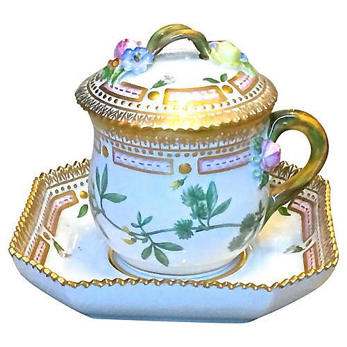 Royal Copenhagen Floral Cup & Saucer