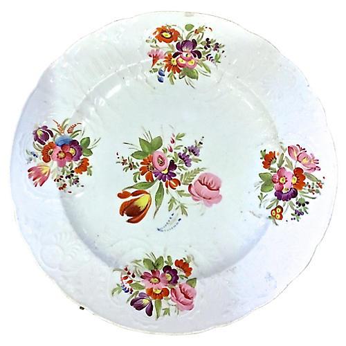 Antique Ceramic Floral Plate