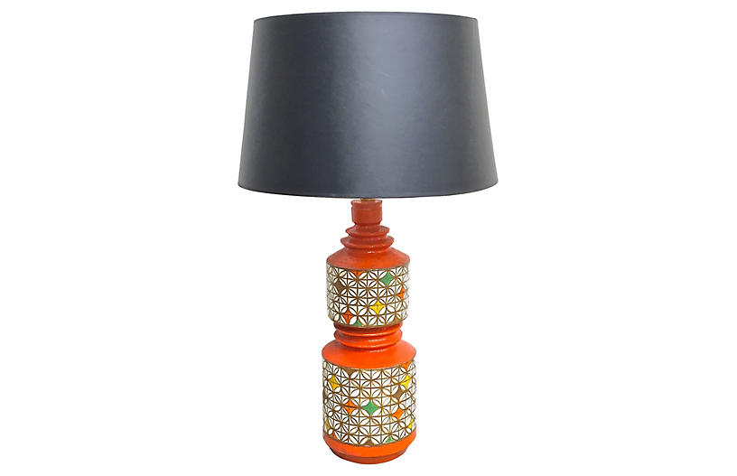 Midcentury Geometric Aldo Londi Lamp