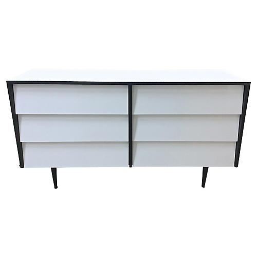 Mid-Century Mod White Dresser