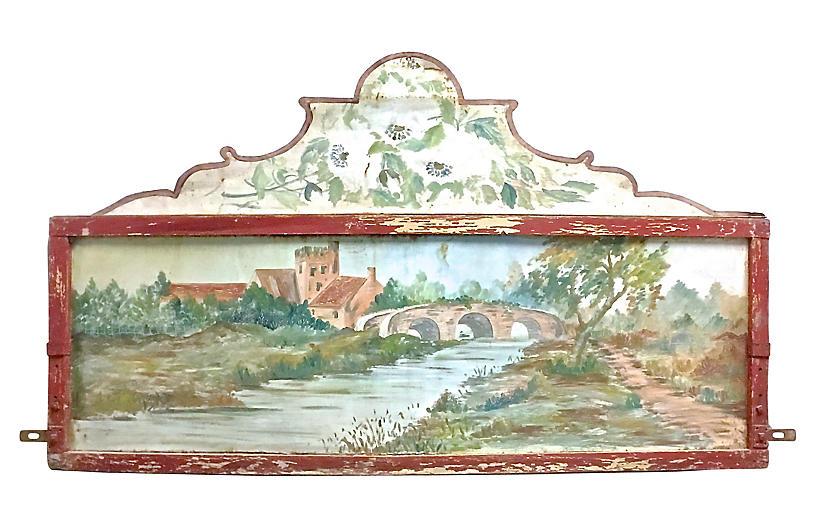Carousel Handpainted Landscape Plaque