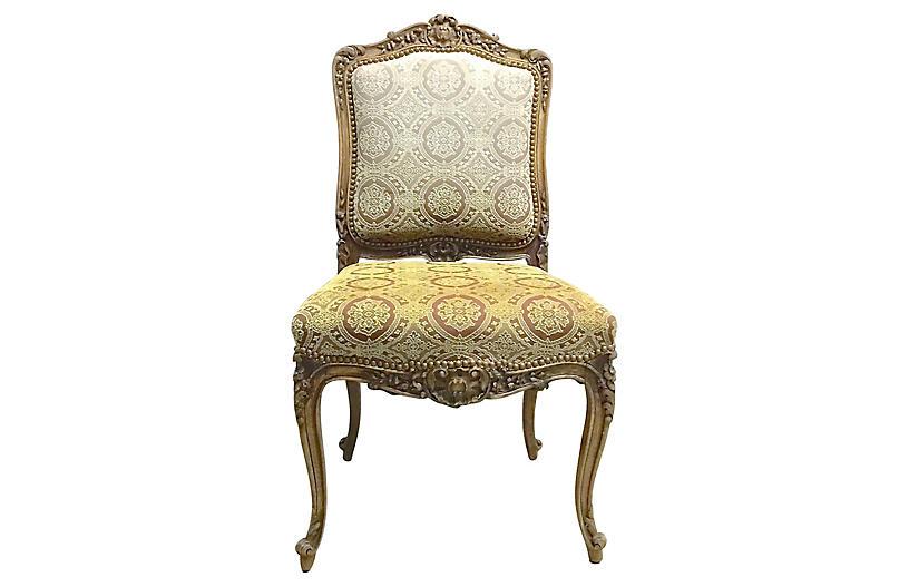 Acanthus Leaf & Medallion Slipper Chair