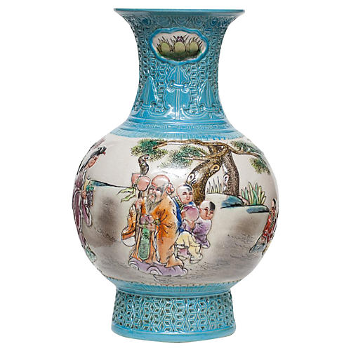 Carved Porcelain Vase, early 20th c.