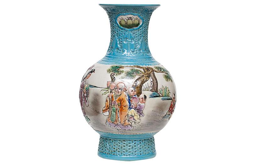 Carved Porcelain Vase, early 20th c.