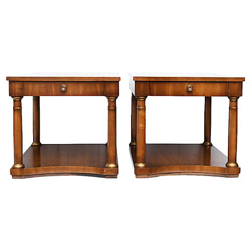 Neoclassical End Tables by Drexel, pair