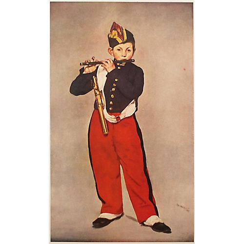 1950s Manet Fifer Boy Lithograph