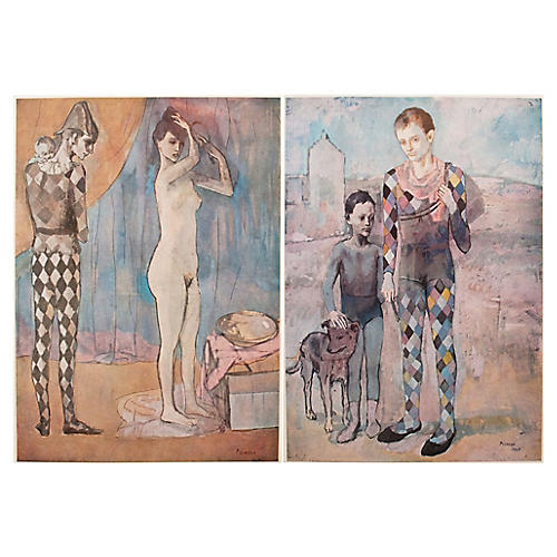 1950s Picasso Lithographs, S/2