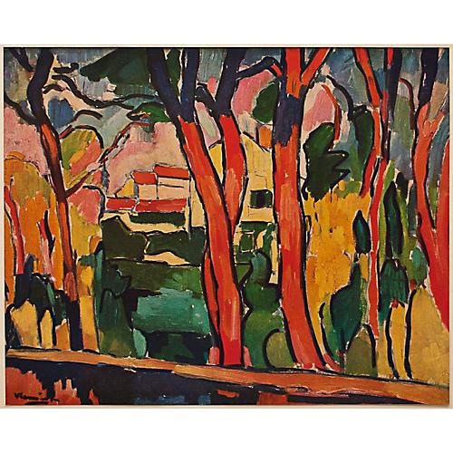 De Vlaminck Les Arbres Rouges, 1947