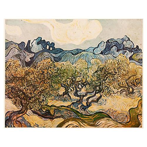 1950s Van Gogh, Landscape w/ Olive Trees