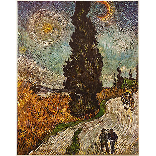 1950s Van Gogh, Road w/ Cypresses
