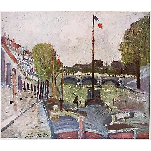 1950s Maurice Utrillo, Pont Neuf, Paris