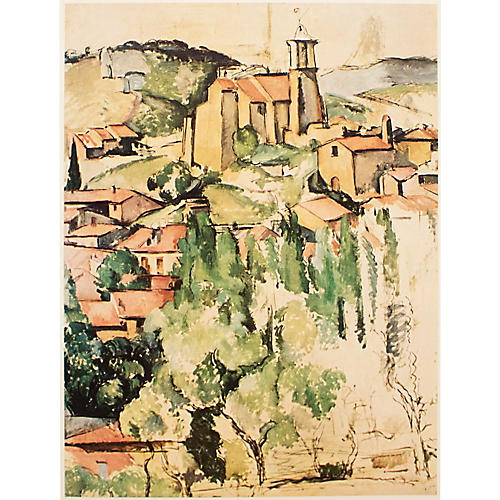 View of Gardanne by Cézanne, 1st Ed
