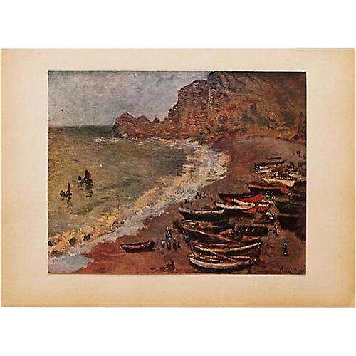 Claude Monet, The Villers Beach