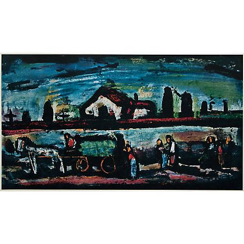 1950s Georges Rouault, Evening Landscape