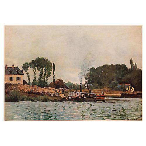 Sisley, Boats at the Lock at Bougival