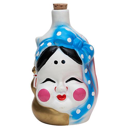 Japanese 2-Face Sake Bottle