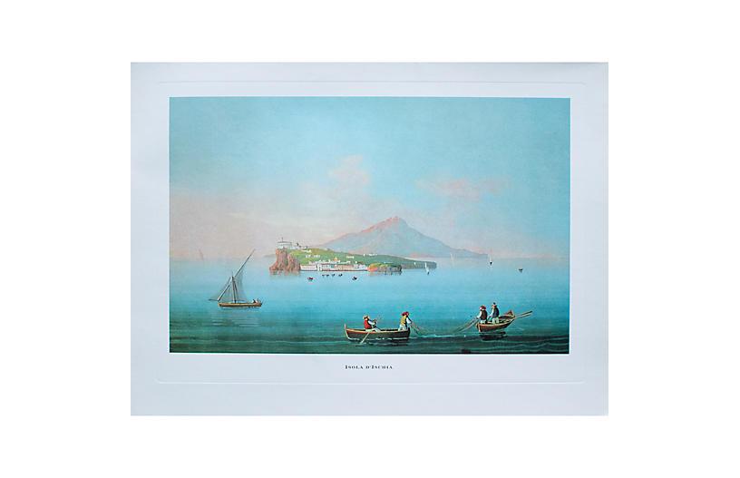 1964 Ischia Island, Original Lithograph