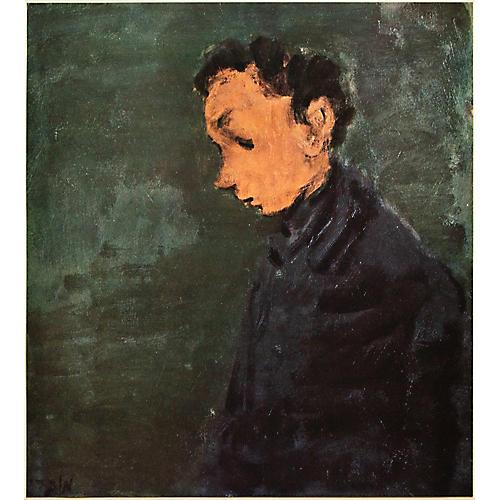 1953 Moshe Mokady, Portrait of a Man