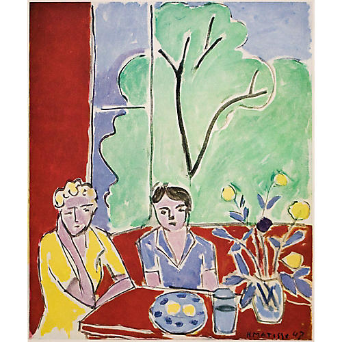 Matisse, Girls in Red and Green Interior
