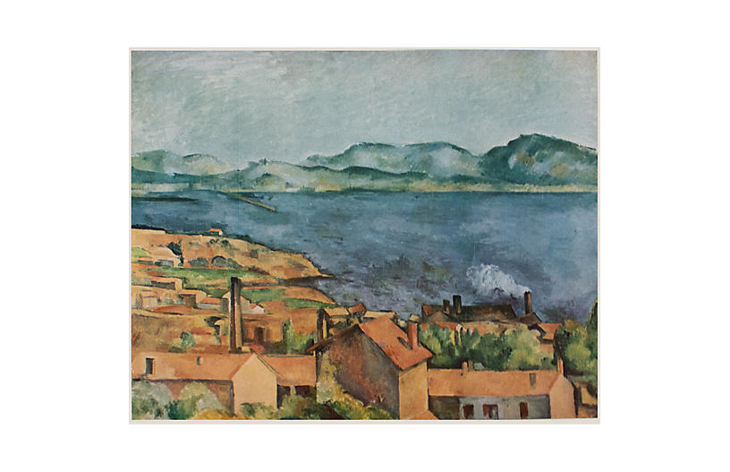 1950s Paul Cezanne, The Bay at L'Estaque