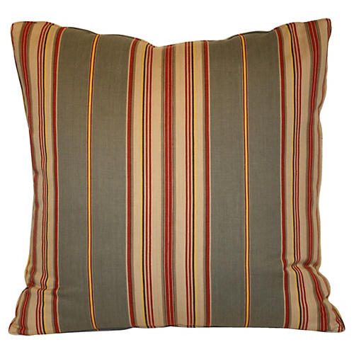 Striped Ticking Pillow