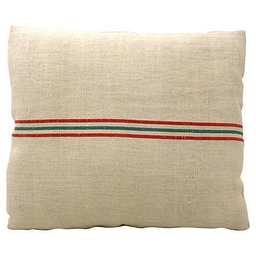 Flax Grain-Sack Pillow