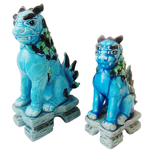 Japanese Temple Foo Dogs, S/2