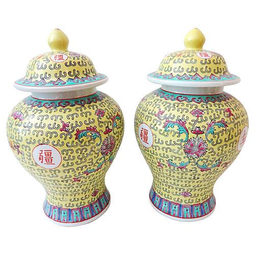 Famille Jaune Ginger Jars, S/2
