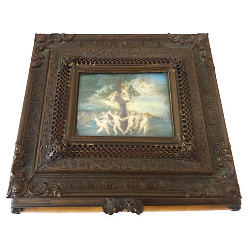 19th-C. French Bronze Jewelry Box