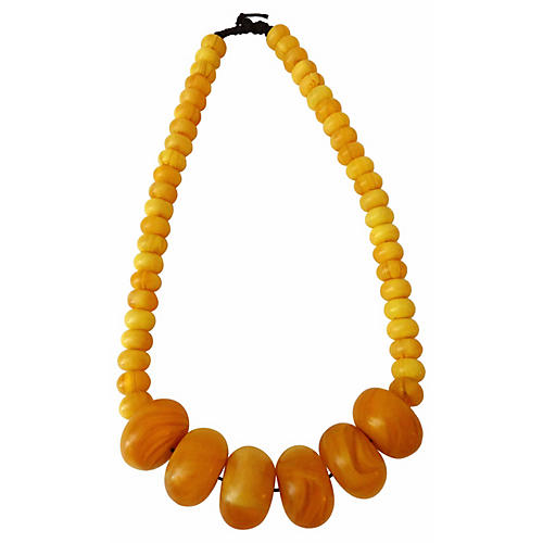 Moroccan Currency Trade Beads Necklace