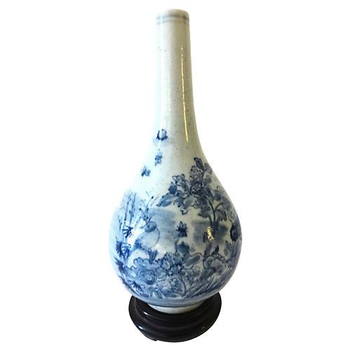Blue & White Onion-Shaped Vase