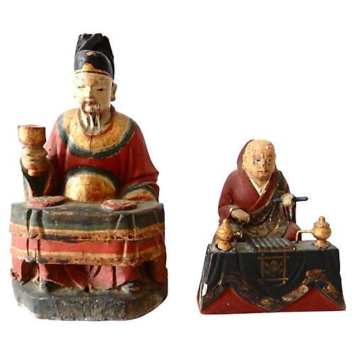 C. 1800 Japanese Deity Figures, S/2