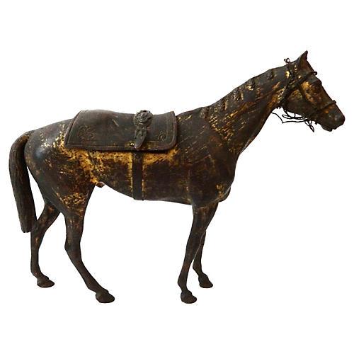 19th-C. French Bronze Box Horse