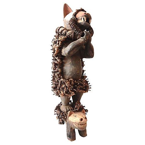 Congolese Fetich Hyena Sculpture