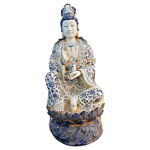 Blue & White Guanyin